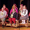 "Mark Maynard | For The Herald Bulletin<br /> ""The  25th Annual Putnam County Spelling Bee"" Spellers include: [first row] Olive Ostrovsky (Mindy Morton), William Morris Barfee (Eddie Franklin), Logainne Swartzand Grubenniere (Kirby Gilliam),  [second row] Audience Speller Jesus Llamas, Audience Speller Connie Pruett, Marcy Park (Erynn Hensley), [third row] Audience Speller Cailyn Vernetti, Chip Tolentino (Daniel Irwin) and Leaf Coneybear Zach Pruett)."