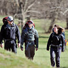 John P. Cleary |  The Herald Bulletin<br /> Brock Fesmire, Kyle Carter, and Jordan Carter prepare to leave to walk the Appalachian Trail for six months.