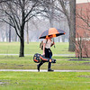 John P. Cleary |  The Herald Bulletin<br /> The first day back to classes from spring break for Anderson University students was met with rain and thunderstorms most all day Monday as approximately 1 1/2 inches of rain fell in the Anderson area.