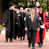 File photo | The Herald Bulletin<br /> Chris Williams walks out in front of the procession during John Pistole's inauguration as Anderson University's fifth president in 2015.