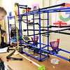 John P. Cleary |  The Herald Bulletin<br /> Ethan Phillips, 10, watches the Chaos Tower to see if it works like he set it up to as his 4th grade class spent time in the Maker Space at Elwood Intermediate School this past week.