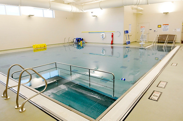 Don Knight | The Herald Bulletin<br /> The Physical Therapy and Rehab department at Community's new Pavilion includes a heated pool.
