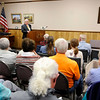 Don Knight | The Herald Bulletin<br /> Mayor Thomas Broderick Jr.talks about the state of the city during the monthly meeting of the Madison County Historical Society on Monday.