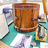 "Don Knight | The Herald Bulletin<br /> A Civil War drum carried by Samuel R. Baker of Brookeville Ind., who served with the 68th Volunteer Regiment of Indiana, is part of the Madison County Historical Society's new exhibit ""The Civil War:  Soldiers and Stories of Madison County."""