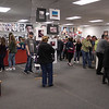 Family, friends and members of the public filled the gallery at the Mounds Mall on Sunday for the opening of the Art Association of Madison County's 18th Annual Student Exhibition.