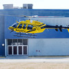 Don Knight | The Herald Bulletin<br /> A PHI air ambulance lands at Mounds Mall for a demonstration for Thursday's TRIAD meeting.