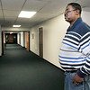 John P. Cleary | The Herald Bulletin<br /> Dove Harbor Administrative Director Tyrone Chandler stands in one of two dorm wings in the facility that houses ten women that are in their program.