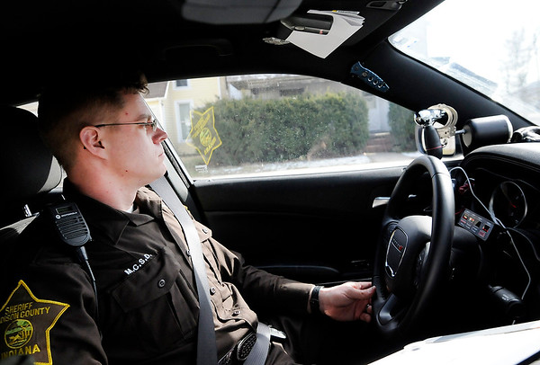 Don Knight | The Herald Bulletin<br /> John Vieke on patrol for the Madison County Sheriff's Department.