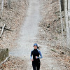 John P. Cleary | The Herald Bulletin<br /> Cyndi Devers, of Anderson, takes on the ups & downs of trail #5 in Mounds State Park Tuesday afternoon as she gets her daily run in.