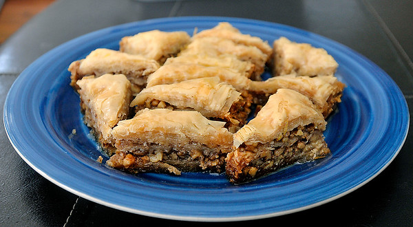 John P. Cleary | The Herald Bulletin<br /> The finished baklava make by the members of the Onward & Upward Homemaker's Club.