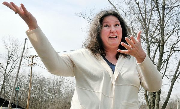 John P. Cleary | The Herald Bulletin<br /> Jennifer Ward talks about the wastewater woes in Alexandria.