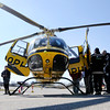 Don Knight | The Herald Bulletin<br /> Attendees of TRIAD's Thursday meeting get an up close look at an air ambulance.