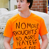 John P. Cleary | The Herald Bulletin<br /> Lapel High School junior Aiden Sturgeon, 17, gives remarks to the 30 classmates that participated in the national walkout protesting government inaction on gun control held today across the country.