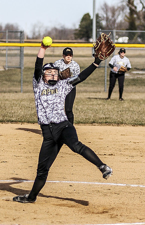 Chris Martin for THB<br /> Avery Bailey pitches for Lapel against Hamilton Heights at home Friday night.