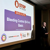 John P. Cleary | The Herald Bulletin<br /> Community Hospital Anderson RN Mark Rohlfing gives a Stop The Bleed presentation to hospital staff members recently.