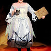 "Don Knight | The Herald Bulletin<br /> Sarah Arnold portrays the Narrator in Boze Lyric Theatre's production of ""Meanwhile Back at Cinderella's"" at Anderson University."