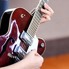 Don Knight | The Herald Bulletin<br /> A student from the juvenile justice system plays electric guitar at Zach Day's music school in Chesterfield.
