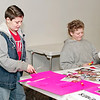 Mark Maynard | for The Herald Bulletin<br /> Teen group participants Kevin Metzger and Michae Davidson work on their collage posters as part of the Strengthening Families Program.