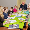 Mark Maynard | for The Herald Bulletin<br /> Children in the 6 to 11 age group interact with facilitators Kimberly Vermillion and Tim Smith during the Strengthening Families Program.