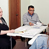 Mark Maynard | for The Herald Bulletin<br /> Linda Scott and Father Paul Choorathottiyil serve as Parent Faciliators for the Strengthening Families Program presented by the Jane Pauley Community Health Center Department of Behavioral Health.