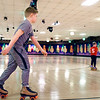 John P. Cleary | The Herald Bulletin<br /> Boston Sharp, 11, makes laps around the rink as he takes advantage of the Spring Break Skate at Anderson Roll Arena Tuesday.