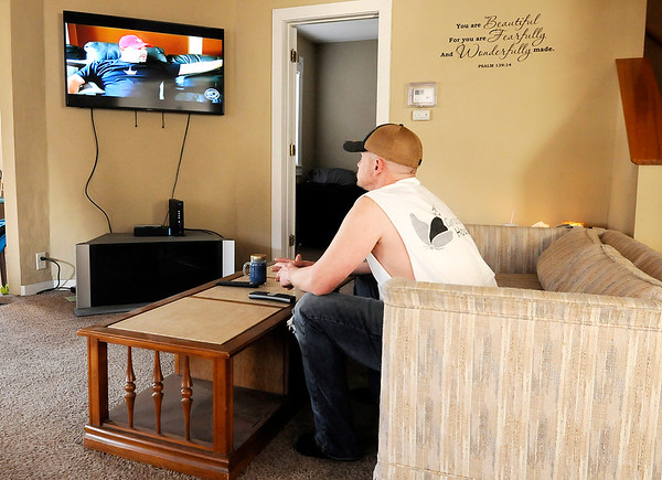 Don Knight   The Herald Bulletin<br /> Jeremiah Harker watches television at Grace House's new men's home in Anderson. By the end of the year Grace House expects to have beds for 56 men and women.