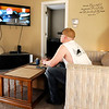 Don Knight | The Herald Bulletin<br /> Jeremiah Harker watches television at Grace House's new men's home in Anderson. By the end of the year Grace House expects to have beds for 56 men and women.