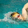 Don Knight | The Herald Bulletin<br /> Dayton Edwards practices his freestyle stroke in the Anderson pool.