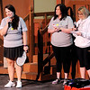 Don Knight | The Herald Bulletin<br /> From left, Jessica Jones, Robin Abels and Cheryl McKinney give the pitch for the Madison County PickleBall Association at Mainstage Theatre on Friday. The audience chose PickleBall as the winning pitch.