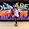 John P. Cleary | The Herald Bulletin<br /> Aaliyah Fairchild, 9, rolls around Anderson Roll Arena Tuesday as she takes advantage of the Spring Break Skate.