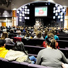 Don Knight | The Herald Bulletin<br /> A large crowd turned out to here Jenna Scott talks about suicide prevention at Pendleton Christian Church on Wednesday.