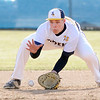 Don Knight | The Herald Bulletin<br /> Shenandoah's Gavin Patrick fields a ball as the Raiders hosted the Lapel Bulldogs on Wednesday.