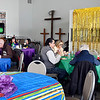 John P. Cleary | The Herald Bulletin<br /> The chapel of the Christian Center was turned into a Mardi Gras themed dining room Tuesday for the Fat Tuesday Community Lunch-Cajun Style that benefited the Christian Center.