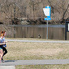 Don Knight | The Herald Bulletin<br /> Walkers and joggers took advantage of sunny weather to get out on the trails at Shadyside park on Thursday. The forecast is calling for rain Friday and Saturday with a return to sunshine but colder temperatures by Sunday.