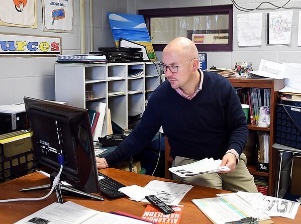 John P. Cleary | The Herald Bulletin Chris DeHart, a social studies teacher at Pendleton Juvenile Correctional Facility, is the recipient of Indiana University's Martha Lee and Bill Armstrong Teacher Educator Award.