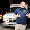 Don Knight | The Herald Bulletin<br /> Lafayette Township firefighter and EMT Shaun Wilson talks about the costs associated with running the fire department.