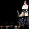 Don Knight | The Herald Bulletin<br /> Jenna Scott talks about her son Hudson Scott at Pendleton Christian Church on Wednesday. Scott founded Brownsburg-based Project Hudson with her husband Wesley Scott after their son committed suicide.