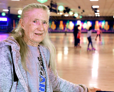 John P. Cleary | The Herald Bulletin Georgia Allen, owner of Anderson Roll Arena, as been involved in roller skating most all her life and with her husband opened Anderson Roll Arena in 1977.