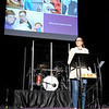 Don Knight | The Herald Bulletin<br /> Jenna Scott talks about her son Hudson Scott at Pendleton Christian Church on Wednesday. Hudson Scott committed suicide at the age of 14.