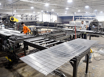 Barnett Bates operates out of the former Pay Less building at 2310 Broadway in Anderson manufactuing aluminum and steel grating for industrial and architectural use.
