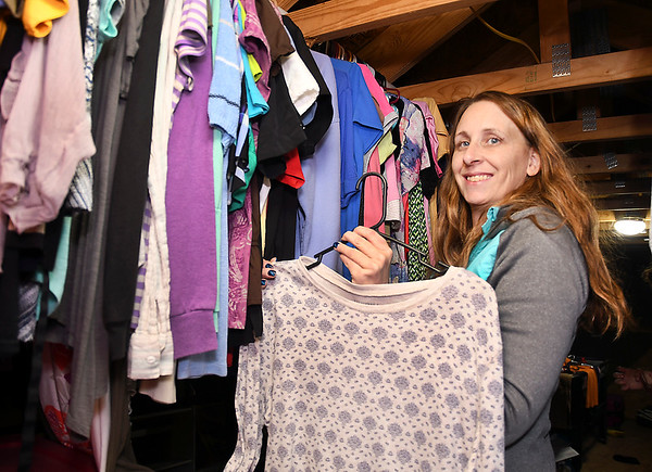 Jennifer Hicks runs The Clothes Garden out of her house in Frankton where people can come and get clothes for free.