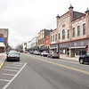 Downtown shot of Pendleton looking west along State Street.
