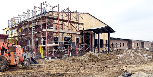 Work continuing on the Alexandria schools construction project. This is the new addition to the Intermediate School.