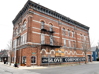 The old Glove Corp. factory building on the corner of John and Harrison Streets in Alexandria.