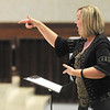 Julie Wood leads the Anderson Area Children's Choir Youth Chorale in a rehearsal at the First United Methodist Church on Tuesday. The Choir will be performing their 20th season concert on May 6th.