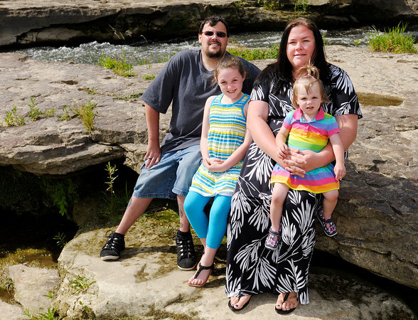 Cancer survivor Trent Haynes spends time at Falls Park with his wife Stephanie and daughters Emma, 8, and Mia 19 months. Haynes plans to be part of the Madison County Relay for Life June 8 and 9.