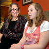 Terri Hicks, a therapuetic foster parent, smiles at her adopted daughter Skyler Auker Hicks, 14, as Skyler was her first foster child when she began fostering in 2006 and now is a permanent part of the family.