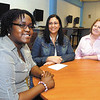 AU student Latoya Francis didn't have enough money to get home to Cayman Islands so Suahil Housholder and Nelda Ely helped her out to raise money.