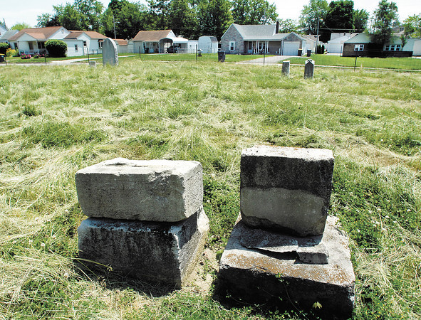The old Harmeson Cemetery sits in the 200 block of east 35th Street in the Meadowbrook addition surrounded by homes.