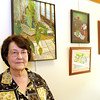 Shari Hurd's painting are on exhibit at the Madison County Visitors and Convention Bureau.